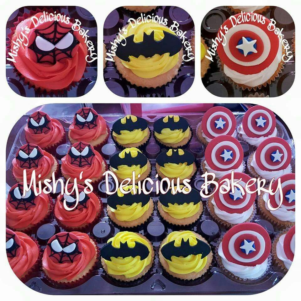 Cupcakes de Super héroes