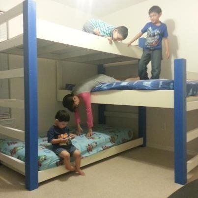 7 Nice Triple Bunk Beds Ideas For Your