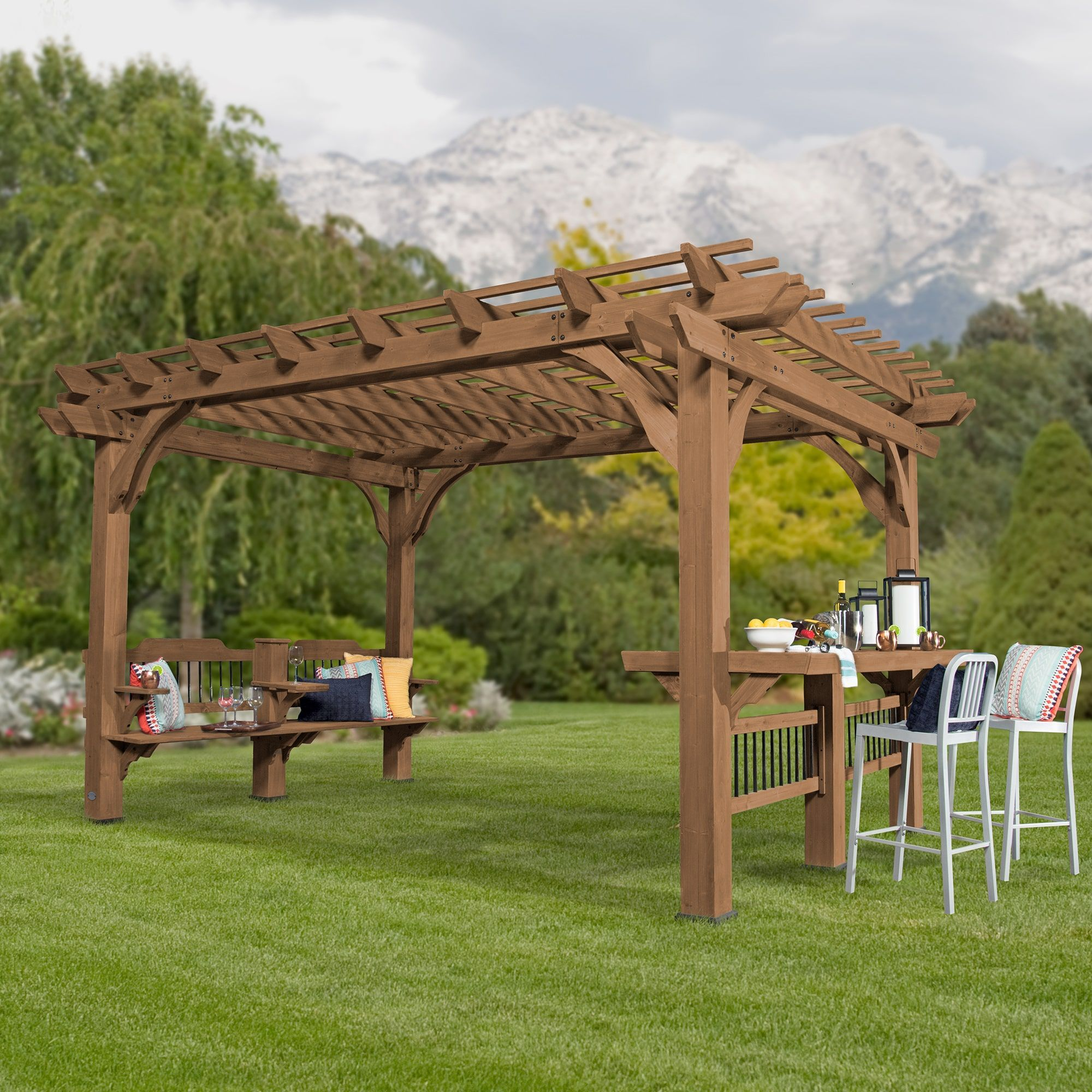 10 Ways To Create A Backyard Oasis: Backyard Discovery 14 X 10 Oasis Pergola