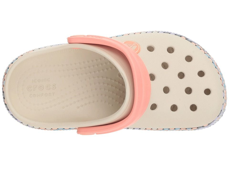 8e694f86cc97d0 Crocs Kids Crocband Gallery Clog (Toddler Little Kid) Kids Shoes  Stucco Melon
