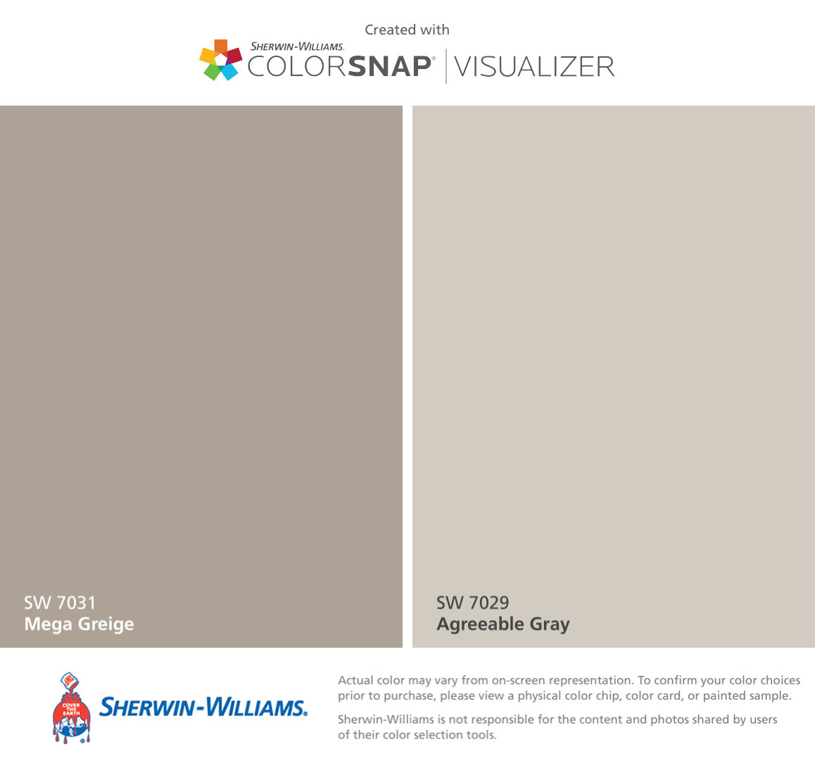 i found these colors with colorsnap visualizer for iphone by sherwin williams mega greige sw. Black Bedroom Furniture Sets. Home Design Ideas
