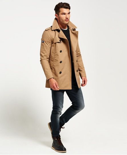 Superdry Remastered Rogue Trench Coat Brown | Casual trench