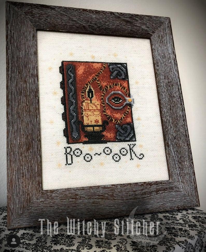Hocus Pocus Spell Book Cross Stitch Pattern Halloween Etsy Halloween Cross Stitch Patterns Cross Stitch Patterns Hocus Pocus Spell Book