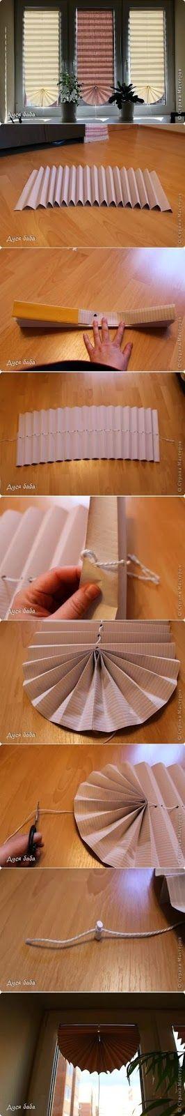 jalousie aus papierrollen selber machen, günstige alternative zu jalousien aus dem handel: diy-variante aus, Design ideen