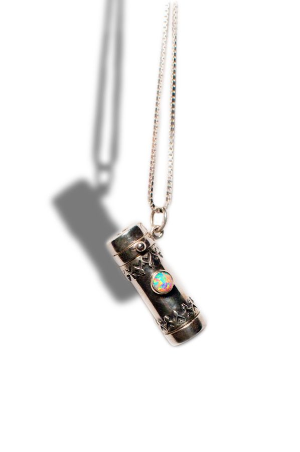 Sterling silver kaleidoscope necklace with opal stone Actually