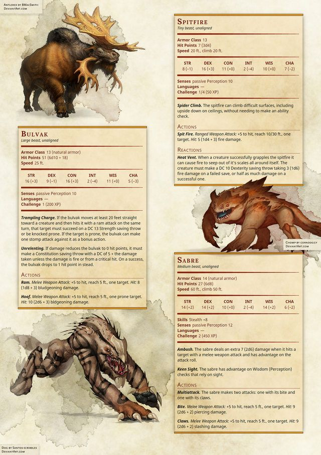 [5e] You seemed to like my monsters last time, so