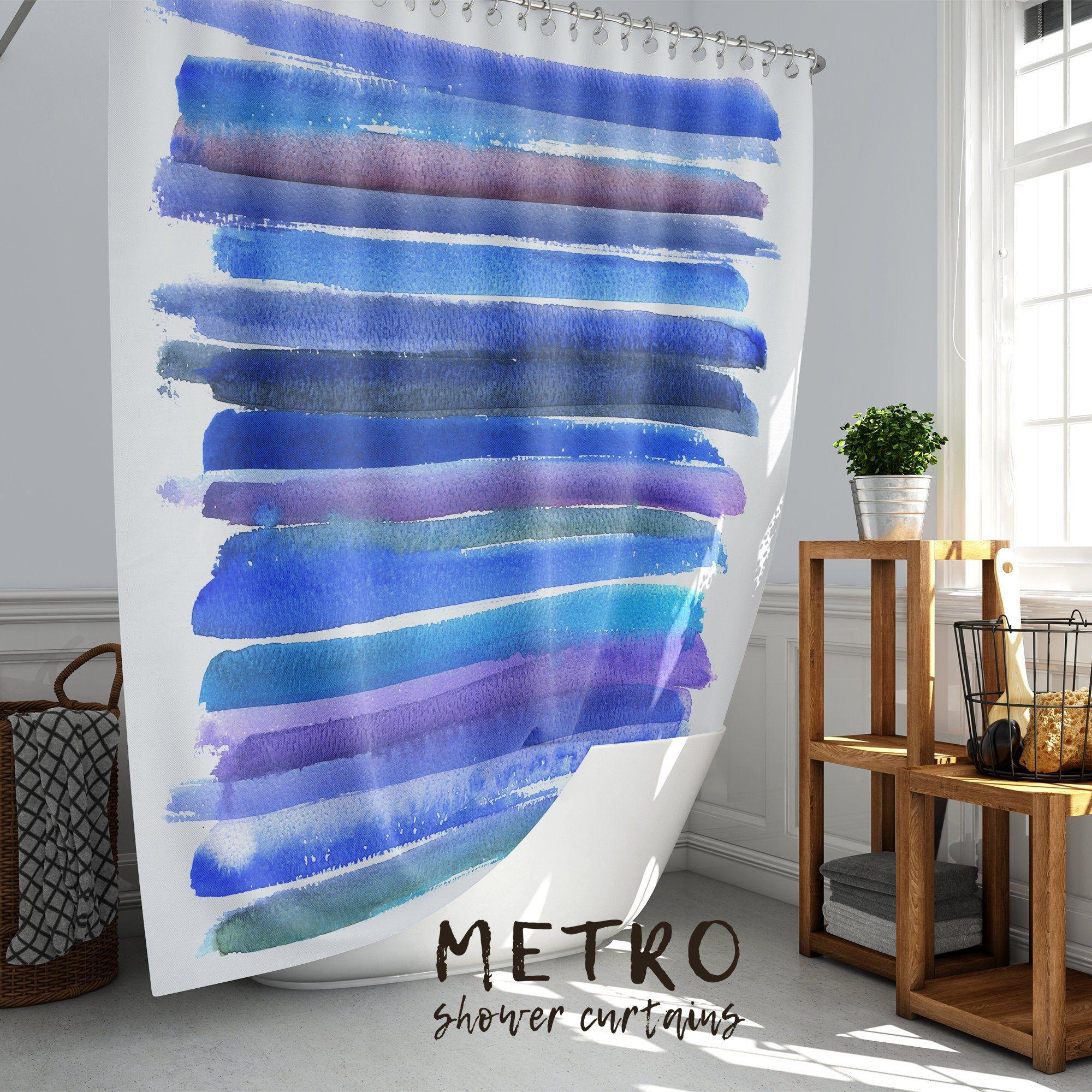 Vibrant Blue Indigo And Purple Watercolor Strokes Color Etsy