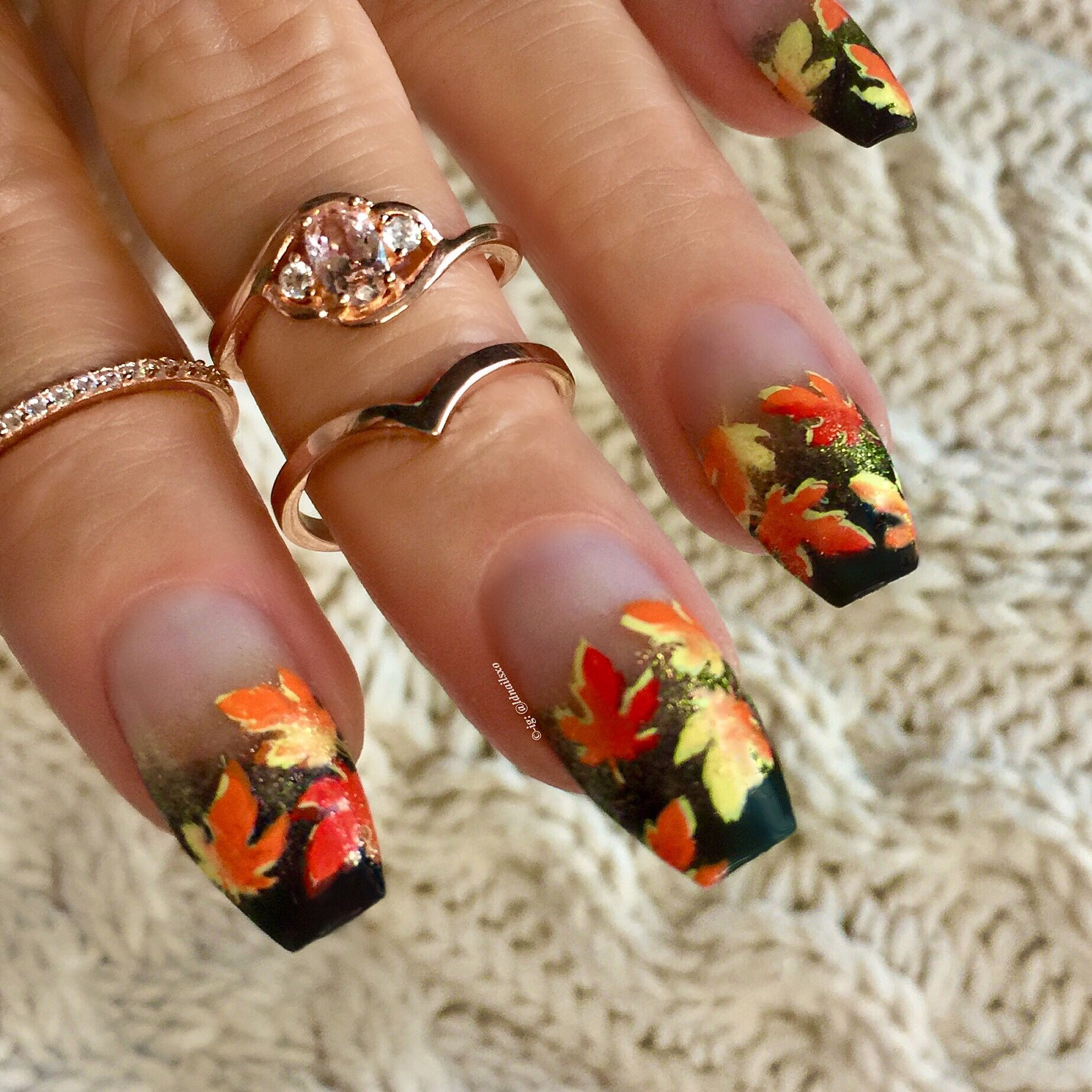 Autumn Nails / Nail Art - Click link below this photo for full ...