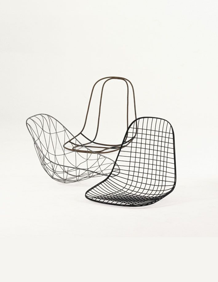 Ray and Charles Eames, prototypes for the Wire Chair