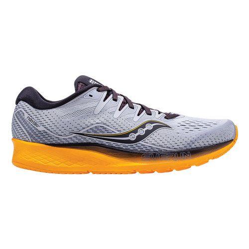 Photo of Men's Saucony Ride ISO 2 Running Sneaker – Grey/Yellow Running