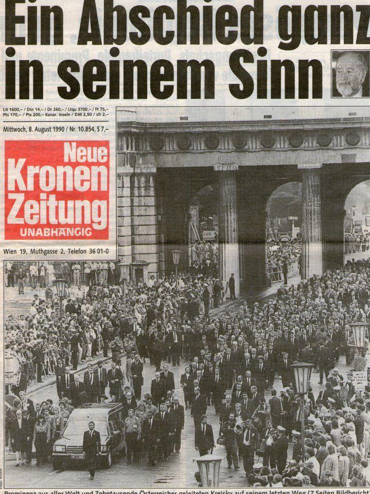 Kreisky Begräbnis Historisch