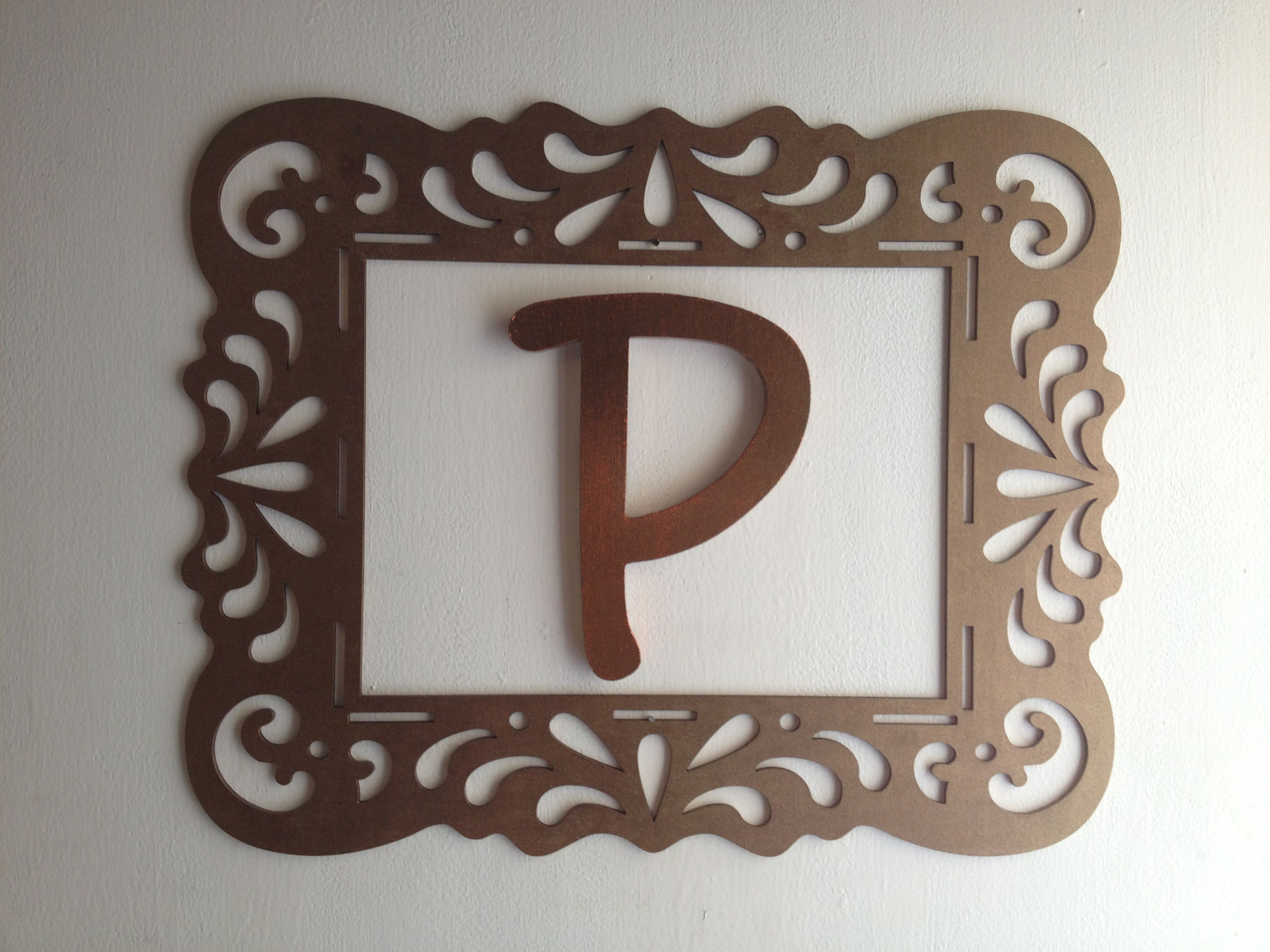 Flat Wooden Frame & Wooden Letter From Michaels Painted With