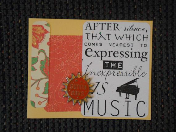 Music lover greeting card by confetticreations524 on etsy only music lover greeting card by confetticreations524 on etsy only 195 check out my etsy m4hsunfo