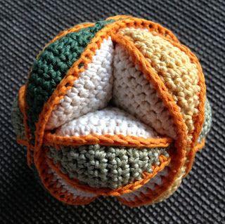 Amish Puzzle Ball Greifball Häkeln Baby Pinterest
