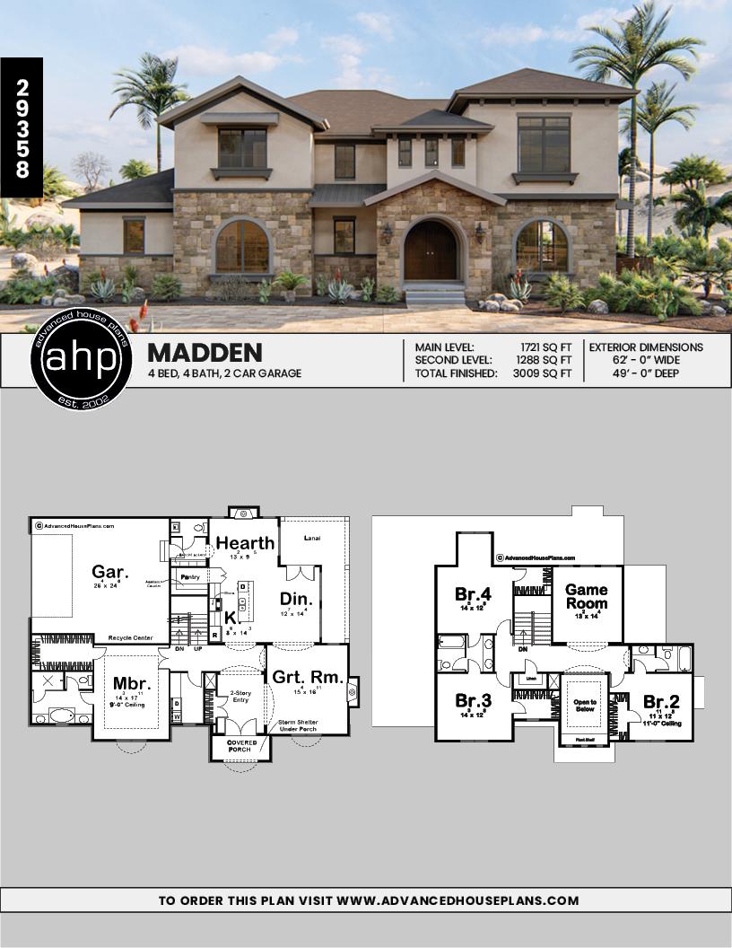 1 5 Story Mediterranean House Plan Madden Mediterranean Style House Plans Mediterranean House Plan Beach House Plans