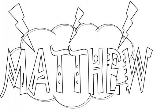 Bible Coloring Pages For Kids Free Printable Books Of The Matthew