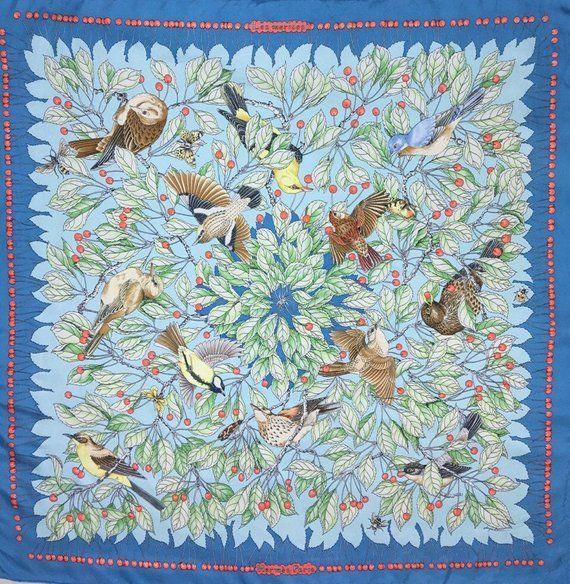 c663bf2504a Free post Authentic Hermes Les Merises silk scarf (34