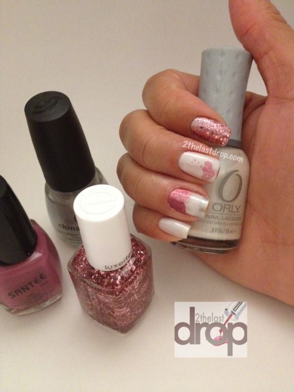 Love and Valentine\'s Day nails with Orly, Santee, China Glaze and ...