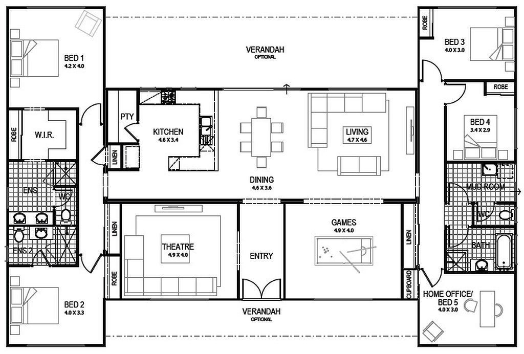 20 Ideas 4 Bedroom Shipping Container House Plans For Plan 9 I Would Change The Placement Of A Few Windows But In 2020 Building A Container Home House Floor Plans House Plans Australia