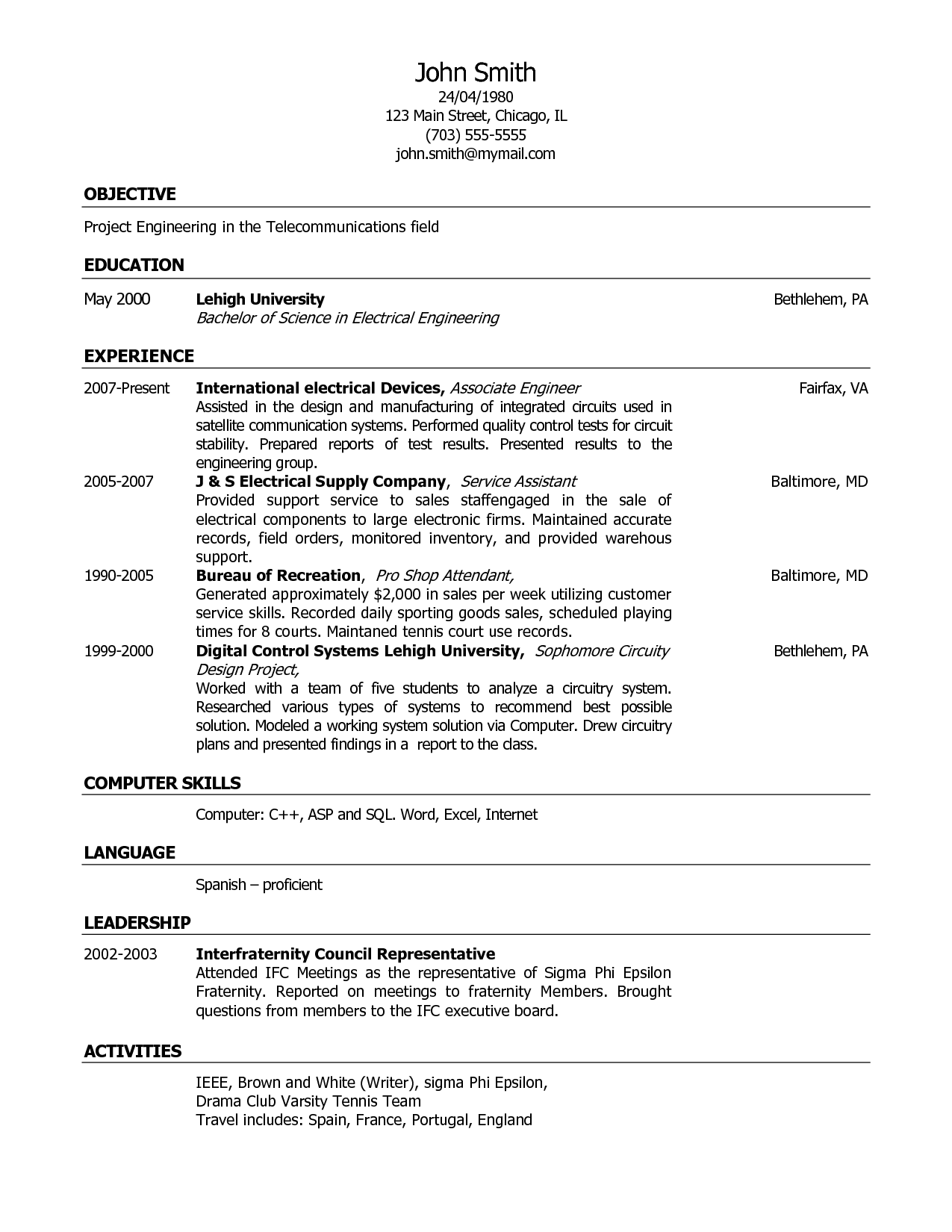 Customer Service Representative Resume http//www