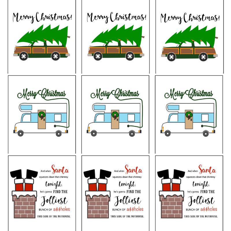 Christmas Vacation Free Printable Gift Tags | Christmas ...
