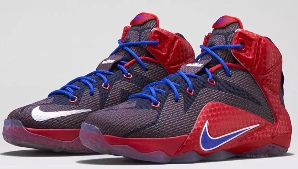 aba93b1215d Nike Lebron XII 12 (GS) Superman Shoes Uni Red Game Royal Size 7 Y (685181- 601)…