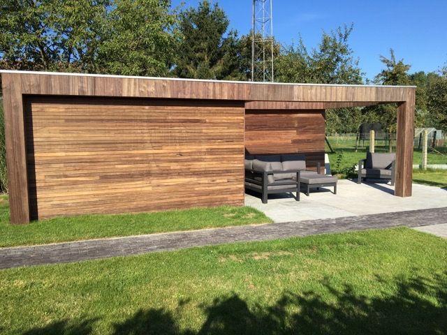 Nieuw modern , strak , design poolhouse / bijgebouw / tuinhuis ZQ-92