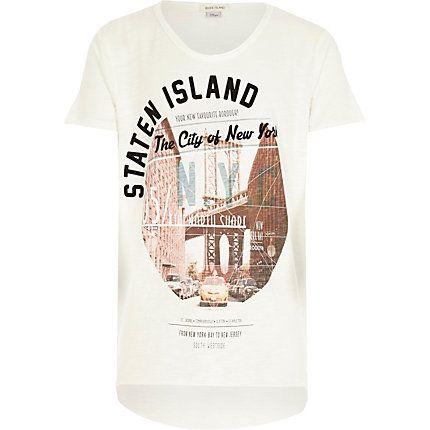 Boys ecru Staten Island print t-shirt £8.00 #riverisland #RIkidswear