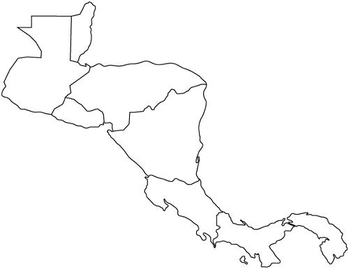 Mapa De Centroam�rica Para Colorear Sin Nombres Centro America: America Mapa Sin Nombres At Infoasik.co
