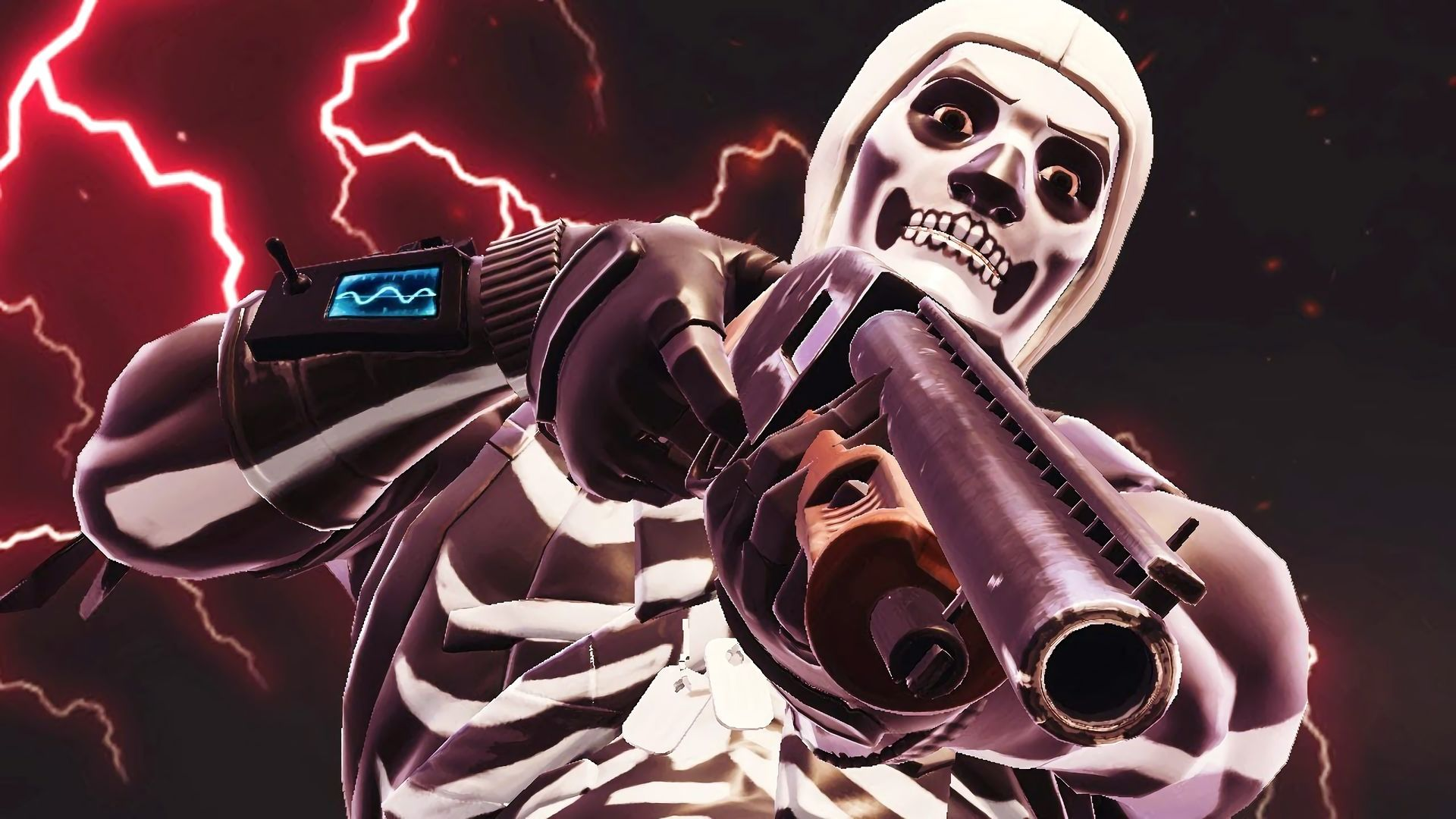 1920x1080 Hd Wallpaper Of Fortnite Battle Royale Video Game Skull