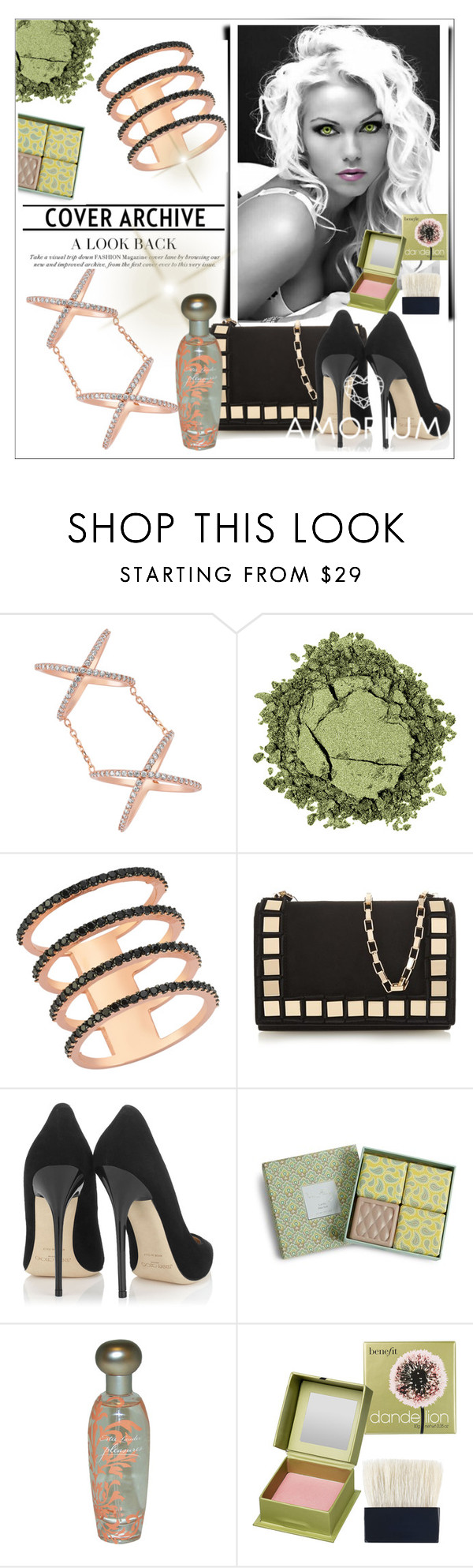 """AMORIUM 4."" by selmir ❤ liked on Polyvore featuring beauty, Tomasini, Jimmy Choo, Vera Bradley, Estée Lauder and Benefit"