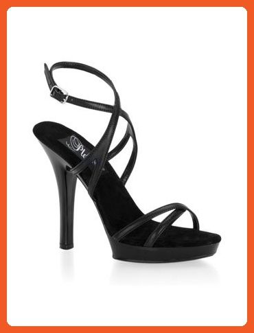 acfb649cd7b0 Black Leather Strappy High Heel Sandal - 6 - Sandals for women ( Amazon  Partner-Link)