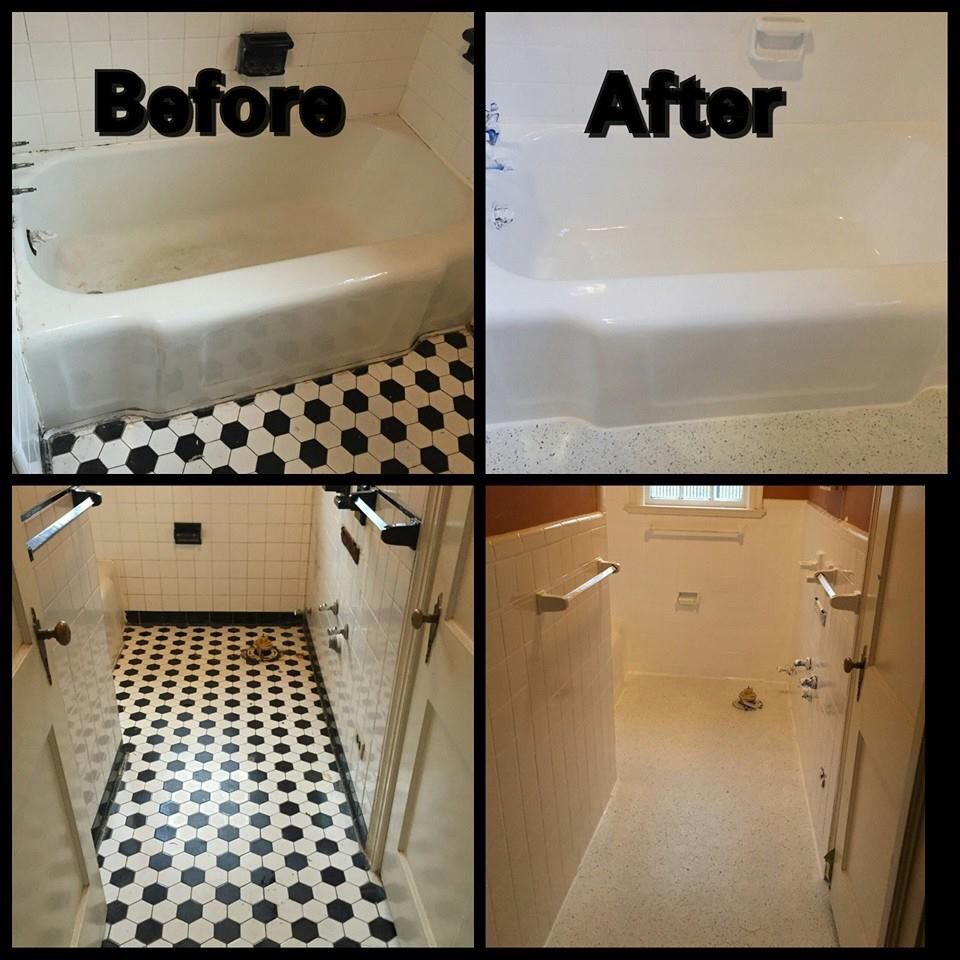 At this house, we #refinished all the #porcelain wall #tile and the ...