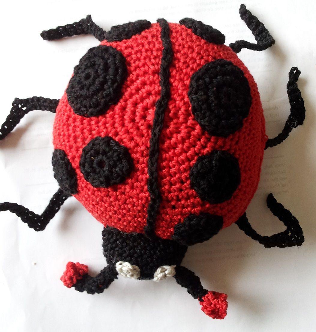 Lieveheersbeestje Gratis Haakpatroon Figurine Crochet Pinterest