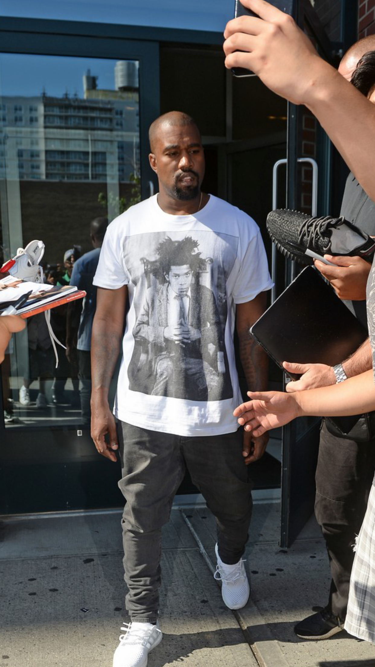Kanye West Wearing A Supreme Basquiat Tee Mens Tshirts Mens Tops Kanye West