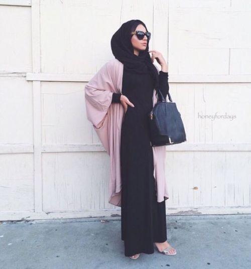abaya cardigan in blush pink