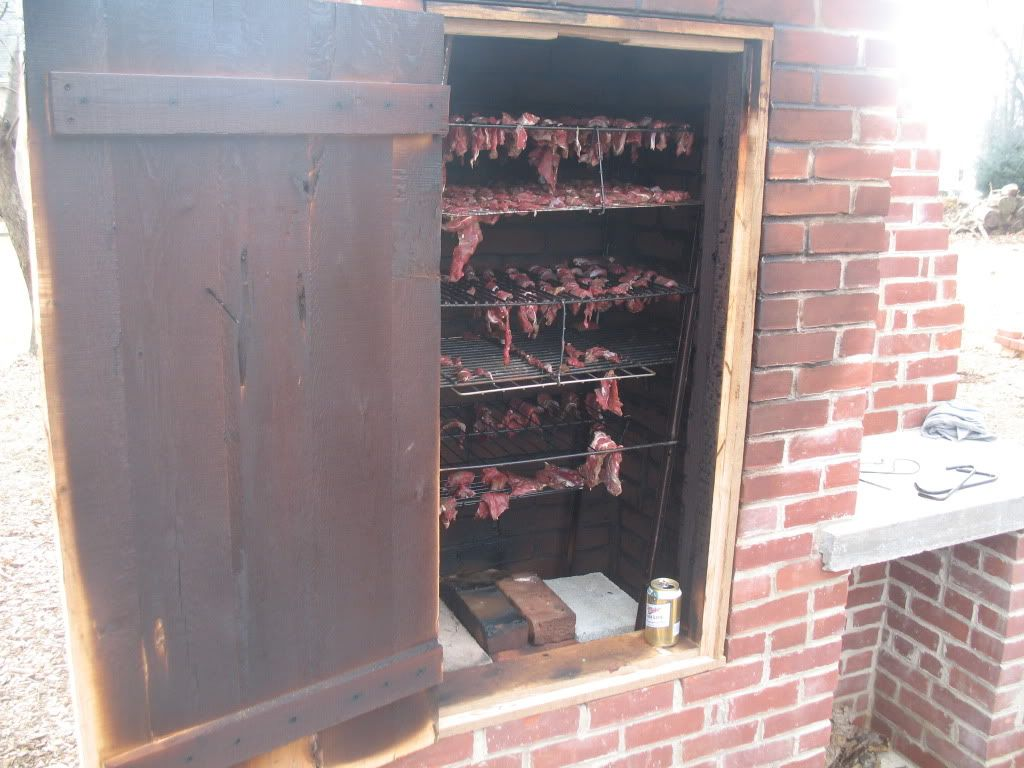 Smoker W Wooden Door. Not Sure How Long This Would Stand Up.