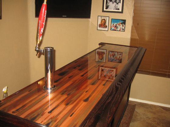 Stellar bar top in a home with epoxy on top colorcopper Bar top ideas