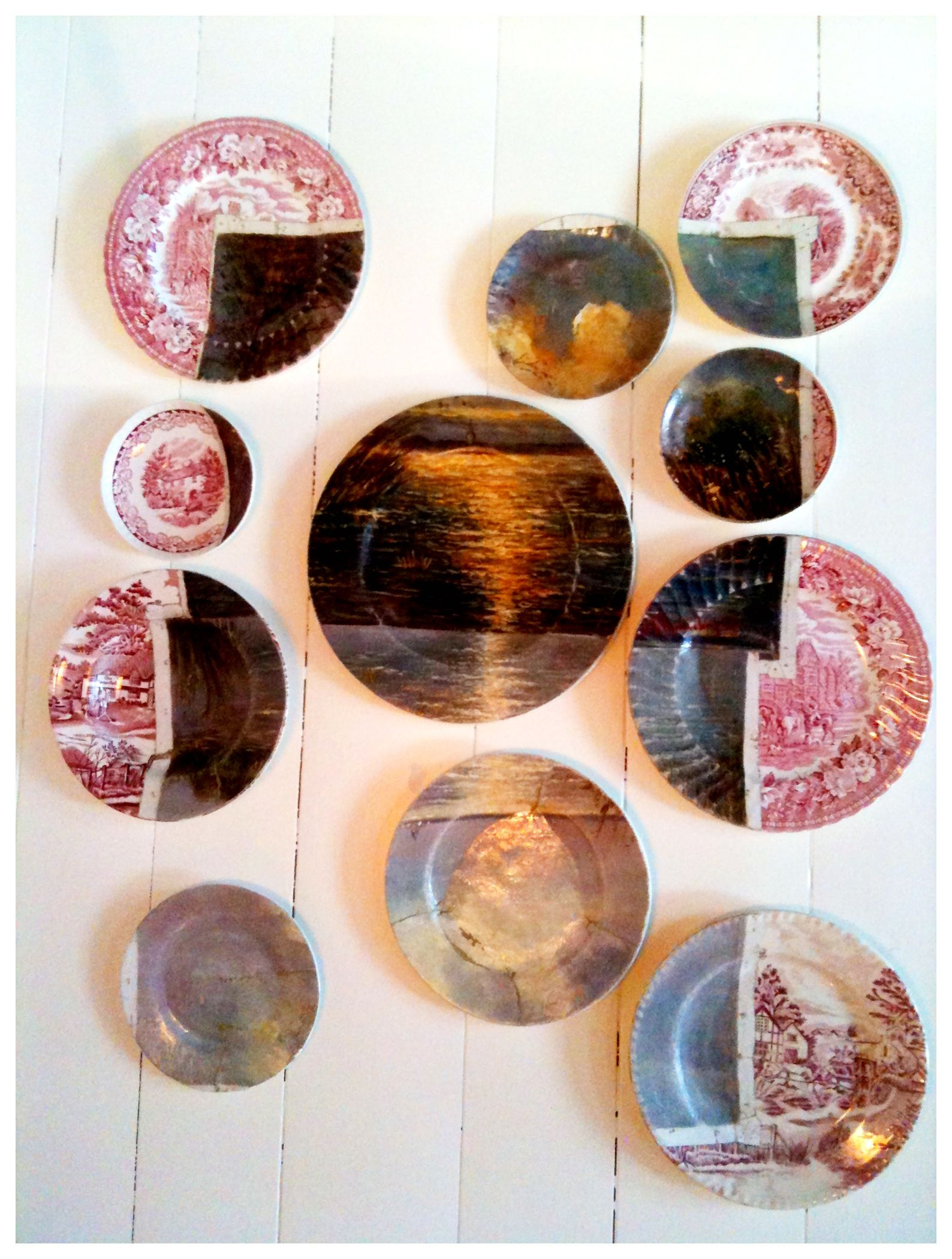 Painting with second hand plates #diy #art