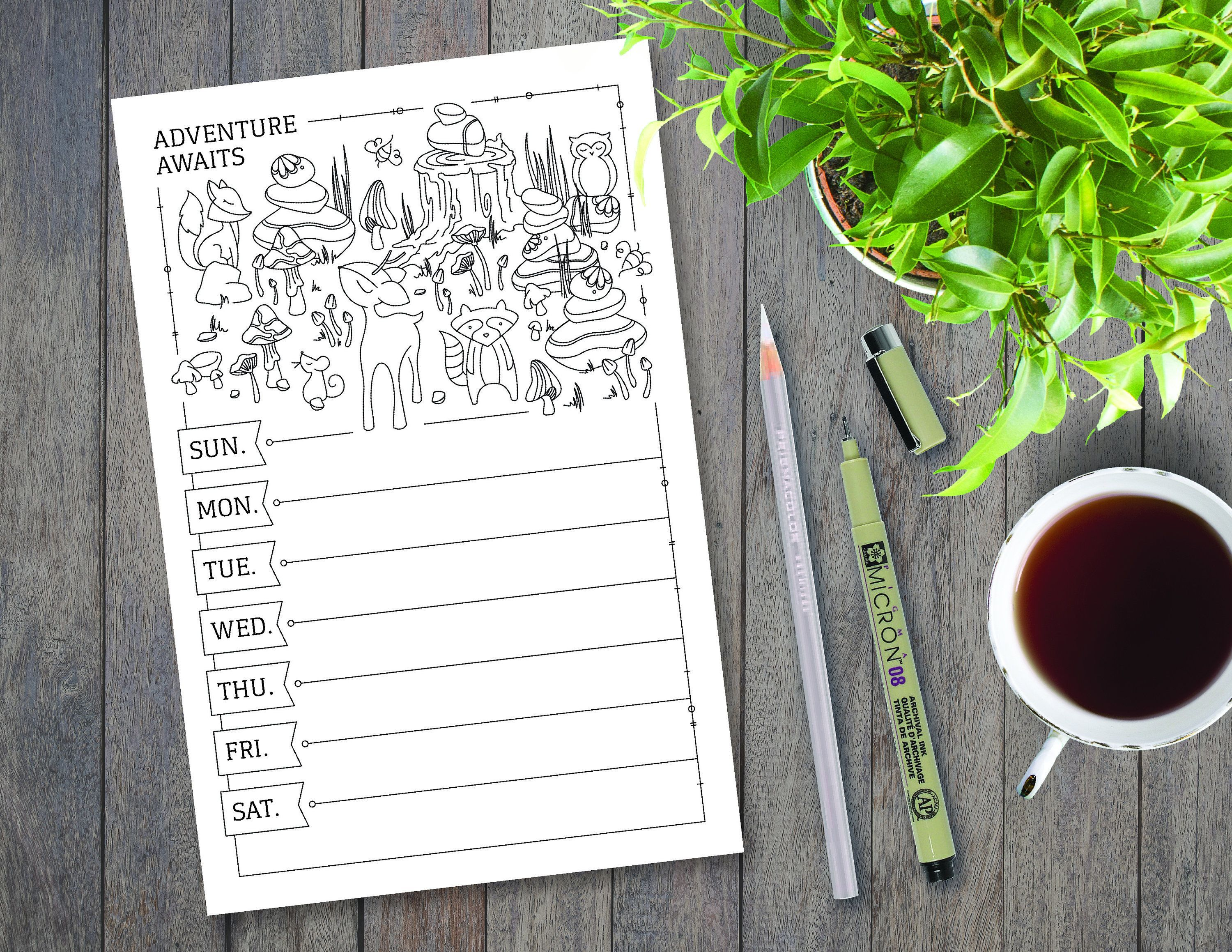 Weekly Meal Planner Printable Color Yourself Fruit Illustrations Meal Planning Grocery Li Weekly Meal Planner Printable Color Yourself Fruit Illustrations Meal Planning G...