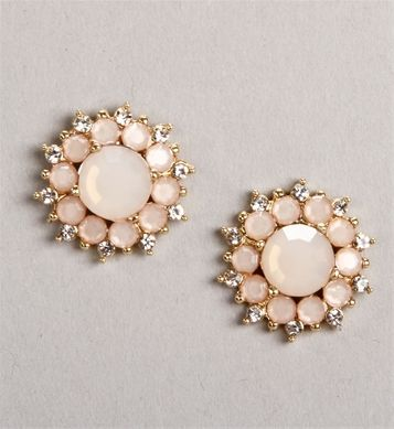 Blush Flower Stud Earrings Are Cute Stylish And Inexpensive