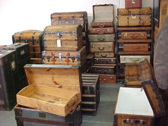 Brettuns Village Trunk Shop Come On In Antique Trunk Old Suitcases Vintage Trunks
