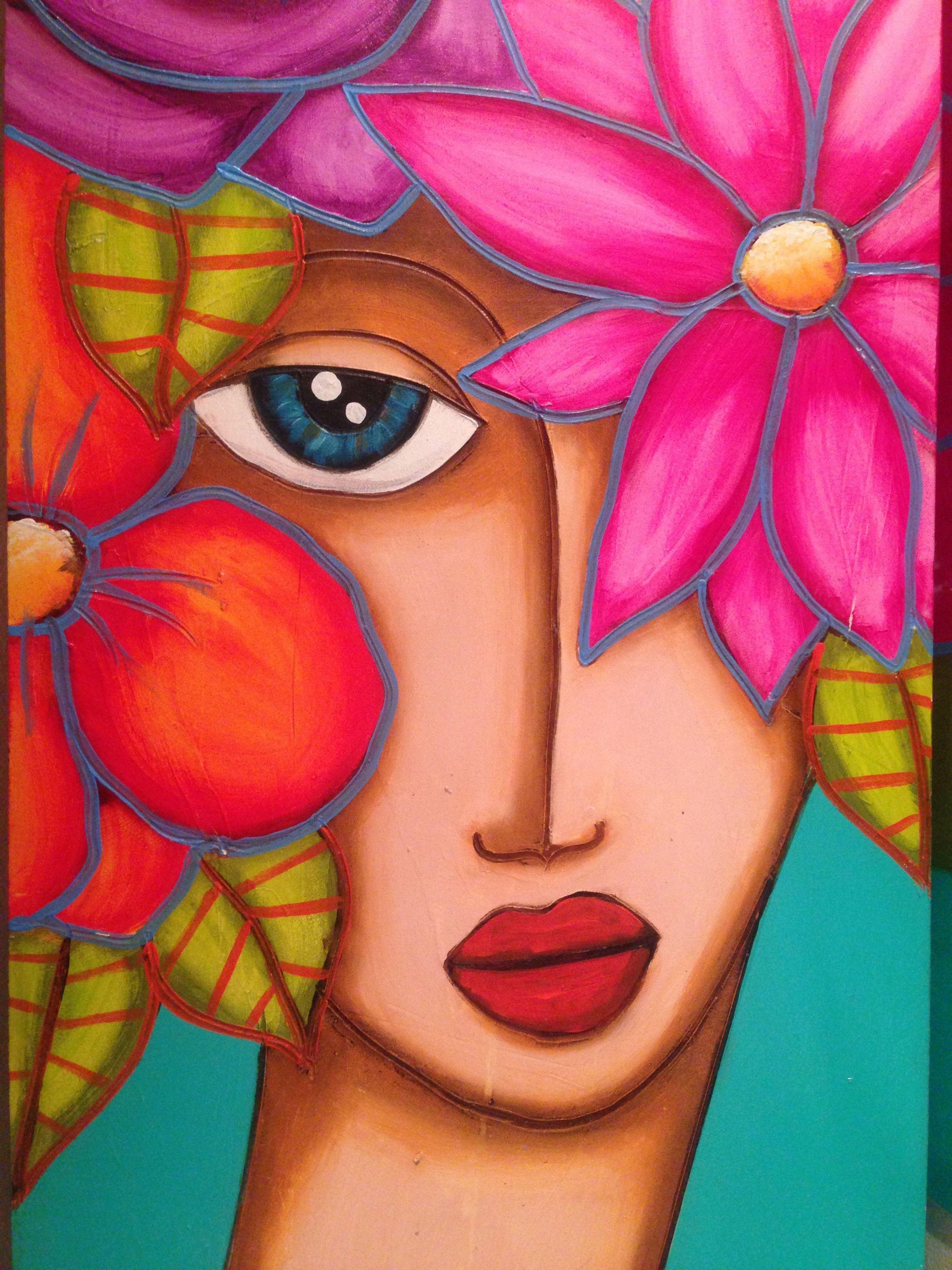 Cuadro Mujer Pinturas Abstractas Pintura Oleo Abstracto Rostros De Arte