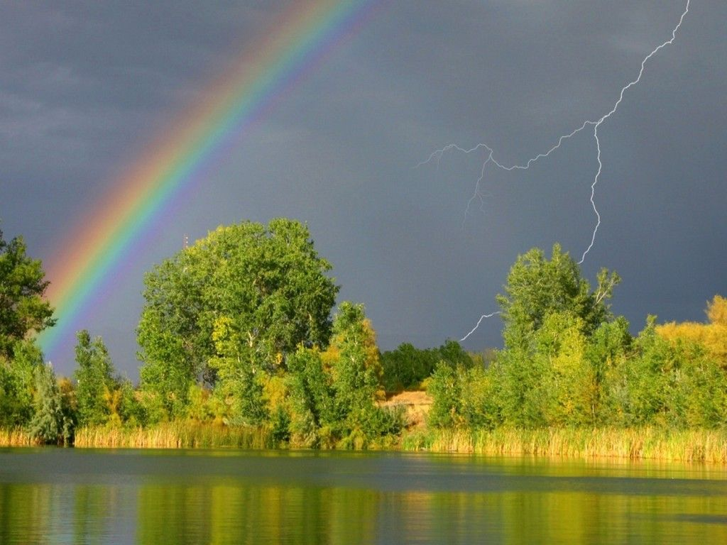 beautiful spring desktop wallpaper rainbow - photo #22