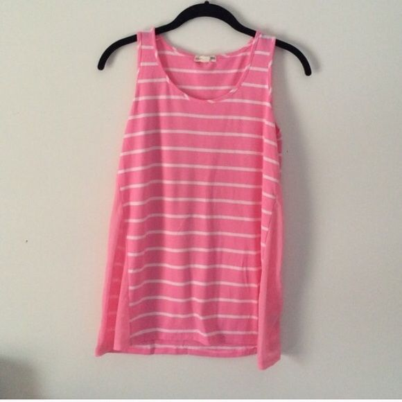 Pink Stripe Tank Top Super comfy tank top. Zenana Outfitters Tops Tank Tops