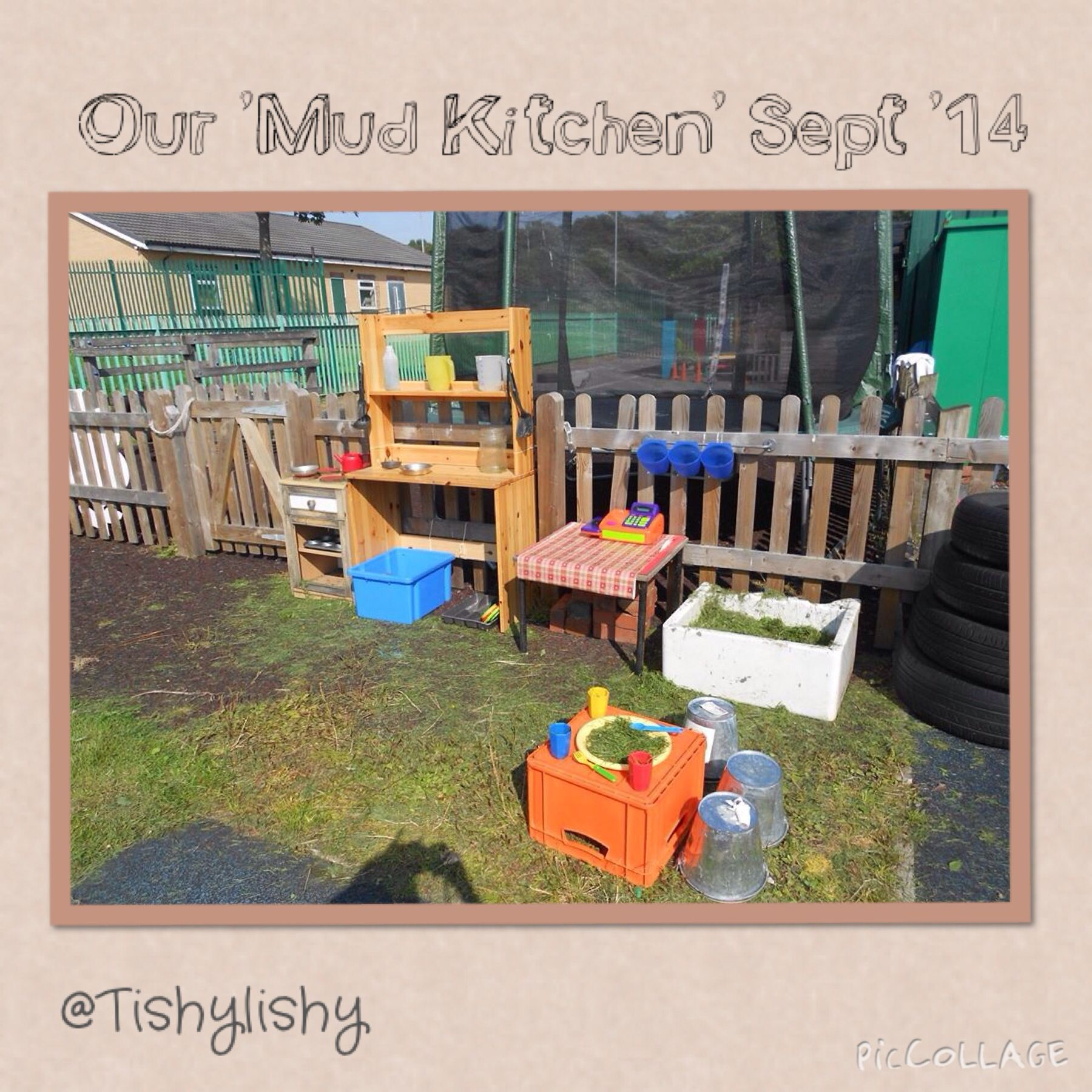 The first version of our Mud Kitchen. Looking forward to ...