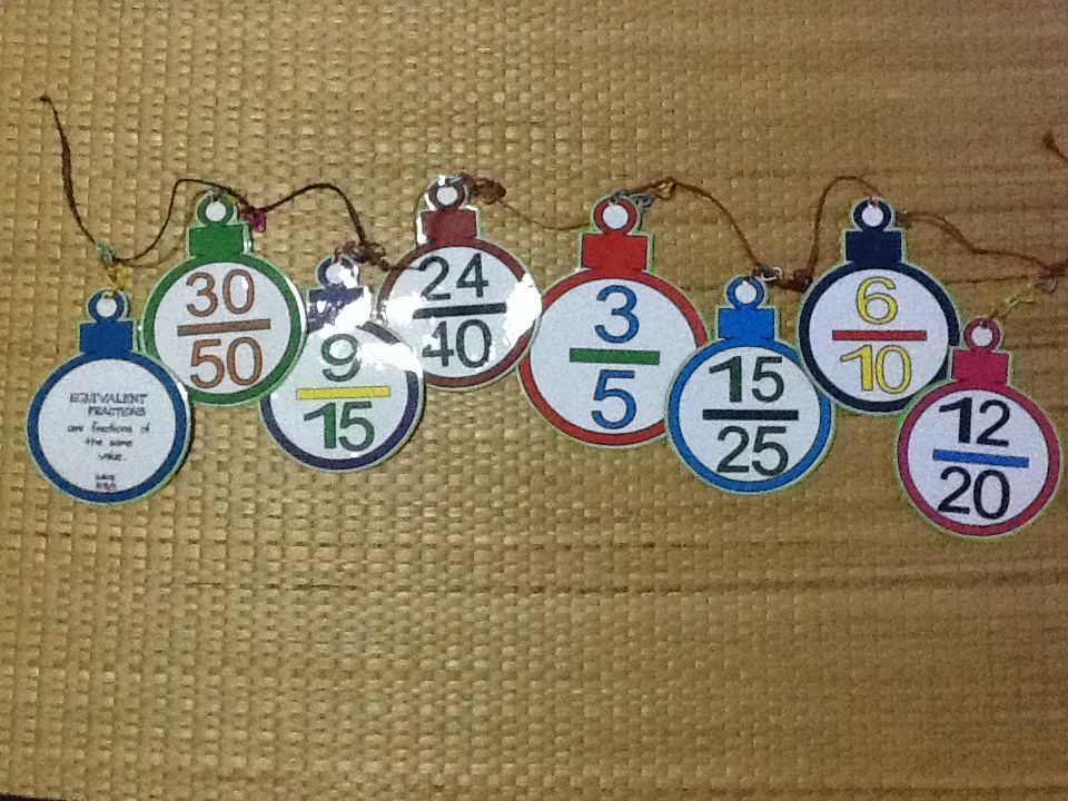 The Hanging Equivalent Fractions\'-Project you can assign to Grade5 ...