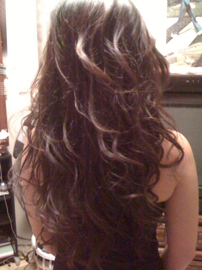 wavy hair using straightener :)