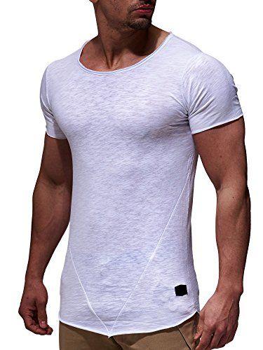 0a88f122f3bf61 LEIF NELSON Herren oversize T-Shirt Rundhals Basic Shirt ...