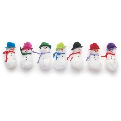 Pom-pom Snowmen